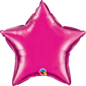 MAGENTA-STAR-BALLOON-20-034-STAR-SHAPED-HOT-PINK-QUALATEX-PARTY-SUPPLIES-BALLOON