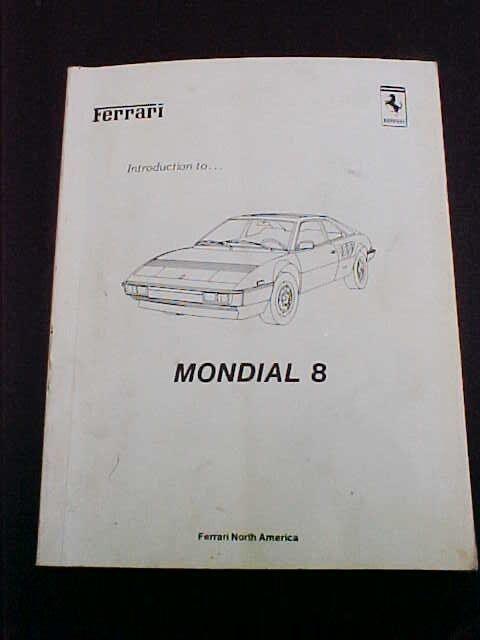 Ferrari Mondial 8 Workshop Manual Service Book 8 81 North America