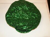 Brando Newsboy Cabbie Cap Hat Sequin Glittering Green St. Patricks Day Christmas