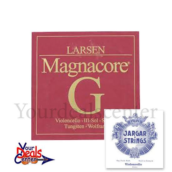 Juego de 4 4 4 4 Cuerdas Para Violonchelo Larsen Magnacore G, C-Jargar A, D medio af1017