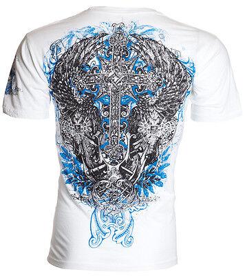 Archaic AFFLICTION Men T-Shirt ANTIQUO Cross Wing Tattoo Biker MMA UFC M-4XL $40