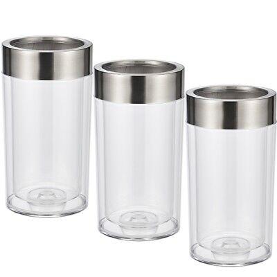 Gastro & Nahrungsmittelgewerbe Ehrlichkeit 3x Doppelwandiger Getränkekühler Weinkühler Kühler Aus Kunststoff Edelstahlring