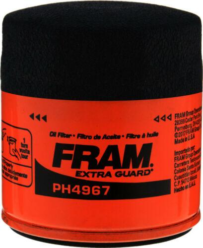 Fram PH4967 Oil Filter fits PH2840 51394 L14476 1394 V4476 MO4476 B33 LF410 PZ39