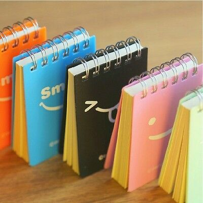 """""""Just Smile"""" 1 pc Mini Pocket Coil Diary Study Lined Notebook Plcket Planner"""