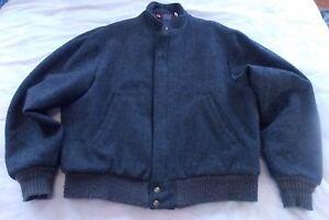 Vintage-Woolrich-Men-039-s-Size-L-Wool-Blend-Coat-Jacket-Distressed-USA-Made