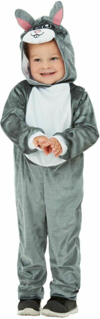 Girls Boys Bunny Costume Kids School Book Week Fancy Dress Rabbit Story Outfit