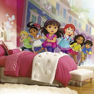 New xl dora the explorer and friends prepasted wallpaper for Dora the explorer wall mural