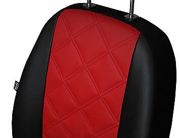 RENAULT SCENIC Mk2 2003-2009 ECO LEATHER EMBOSSED TAILORED SEAT COVERS