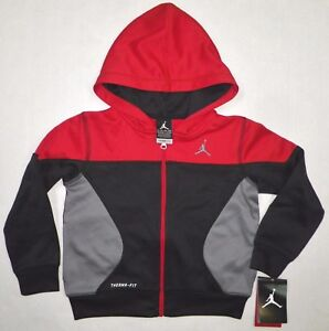 459b58dc8892b5 NIKE AIR JORDAN Boys Jumpman THERMA FIT Full Zip Hoodie Jacket BLACK ...