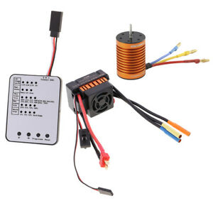 Details about OCDAY 10T 3930KV Motor+60A ESC+LED Programming Card Combo for  1/10 RC Car