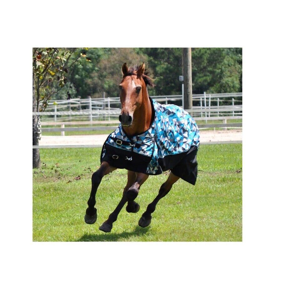 Blau Kaleidoskop Pferd Teilnahme Blatt für Pferde 213cm