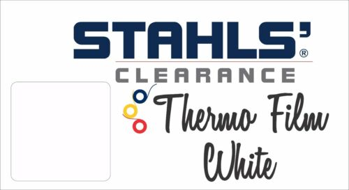 "15/"" x 5 Yards White Stahls/' Thermo-FILM Heat Transfer Vinyl HTV"