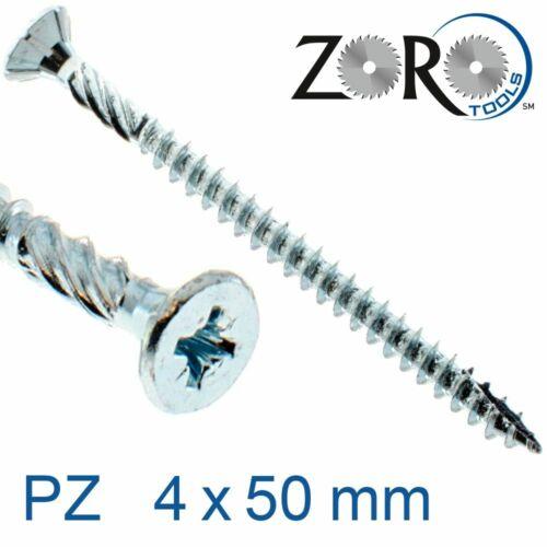30000040050 Spanplattenschrauben Kreuzschlitz PZ Senkkopf Stahl verzinkt