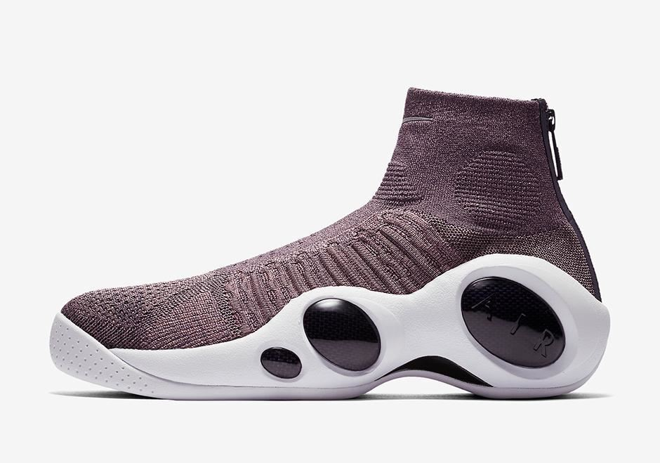Nike Men's Size 10.5 Flight Bonafide Flyknit Shoes Grey Dark Raisin 917742-200