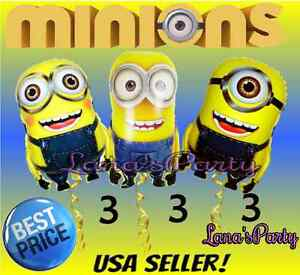 Image Is Loading Despicable ME Minions 3pc Combo Balloon Perfect Birthday