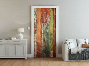 Image Is Loading Ohpopsi Abstract Grunge Weathered Wood Accent Wall Door