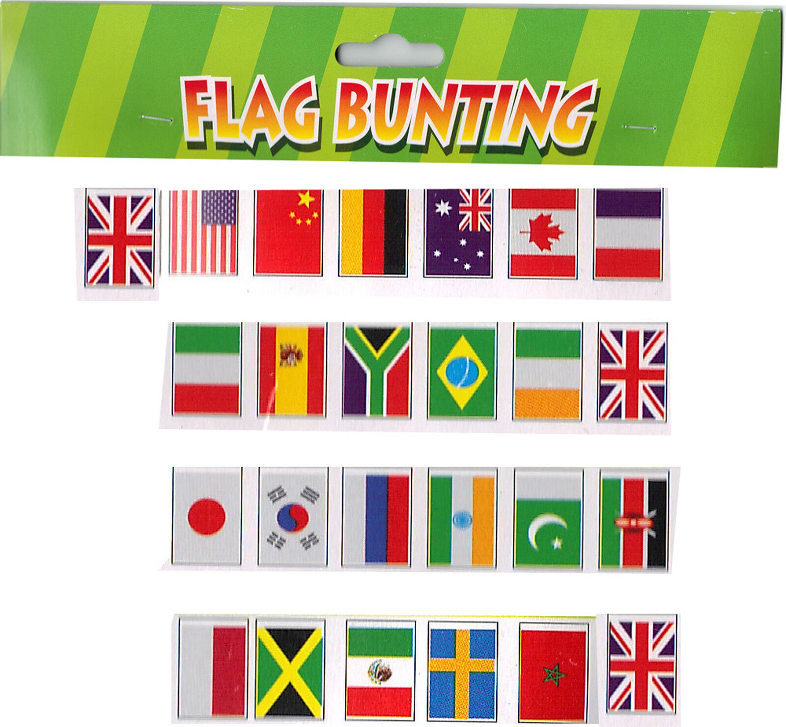 70 metre 230 FEET Jubilee Street Party Olympic BUNTING multi multi multi nation World Flag 5a0a90