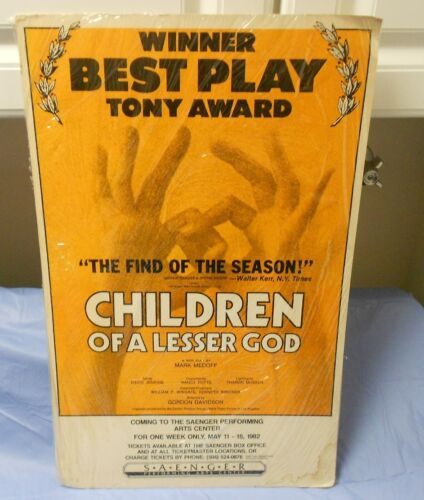 1982 Children of a Lesser God PLAY by Mark Medoff LOBBY CARD Poster 14x22 FVF