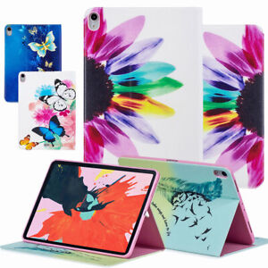 Floral-Pattern-Leather-Smart-Sleep-Wake-Case-For-iPad-Pro-11-12-9-3rd-Gen-2018