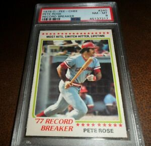 1978 O-Pee Chee Opc #240 Pete Rose RB Cincinnati Reds Hit Leader NM MINT PSA 8