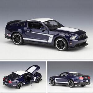 2012 Ford Mustang Boss 302 Matt Black 1//24 Diecast Car Model By Maisto 31269