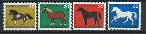 Allemagne-RFA-N-441-44-MNH-1969-Chevaux