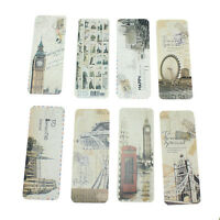 30 Pcs Retro London Paris Bookmark Flags Book Mark Page Marker Novelty Set Gifts