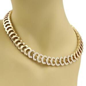 Cartier-C-Logo-2-75ct-Diamond-All-Around-C-Link-18k-Gold-Necklace-w-Paper