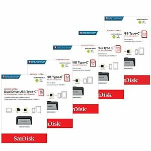 Sandisk-Ultra-16-32-64-128-256GB-Dual-USB-3-1-Type-C-Drive-Flash-Stick-150MB-s
