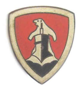 U-Boat-cap-Badge-11th-flotilla-Kriegsmarine-hat-WW2-Abzeichen-Polar-Bear-AGED