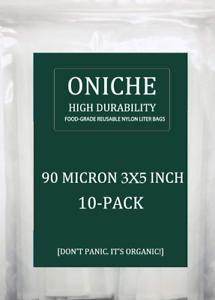 10-Pack-3x5-039-039-in-90-Micron-Oniche-presse-colophane-filtre-sacs-colophane-filtre