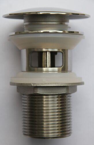 Edelstahl Ablaufgarnitur Popup Ablauf für Becken mit Überlauf poliert glänzend