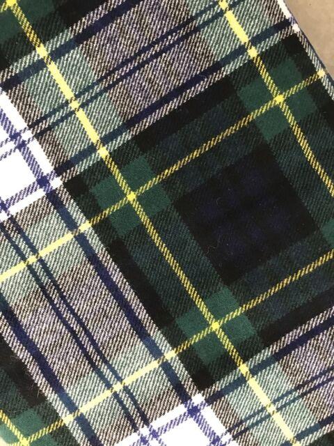 Scottish Wool Tartan Plaid Fabric 1 2 Yds 56 Wide