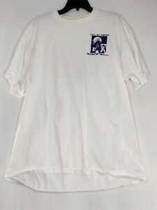Jerzees City Of Temple Mens Size 2X White (Stains) Short Sleeve Graphic T Shirt