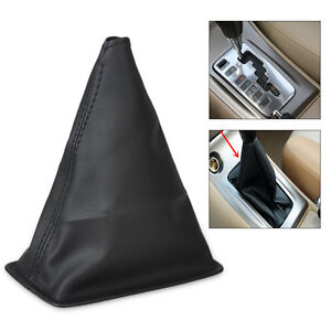 Black-PU-Leather-Gear-Stick-Shift-Cover-Boot-Gaiter-for-Toyota-Corolla-2001-2013