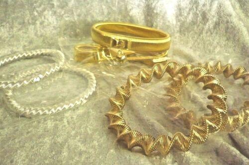 45 Ärmelraffer Armbänder elastisch Restposten silber gold MIX Schmuck Paket Neu