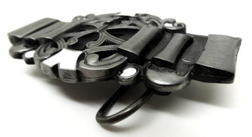 Celtic Belt Buckle Ribbon Knot Theme Black /& White Authentic Dragon Designs