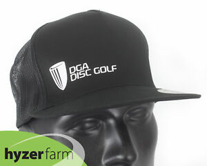 Details about DGA BASKET LOGO FLAT BILL SNAP BACK MESH BACK BLACK HAT Hyzer  Farm disc 0a4553669c1f