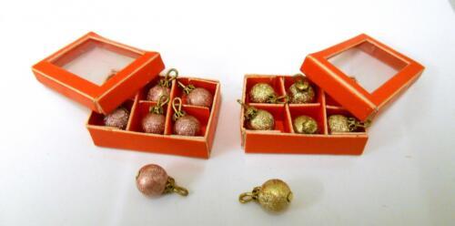 CASA delle Bambole 2 SCATOLE DI NATALE PALLINE decorazioni natale in Miniatura Accessorio