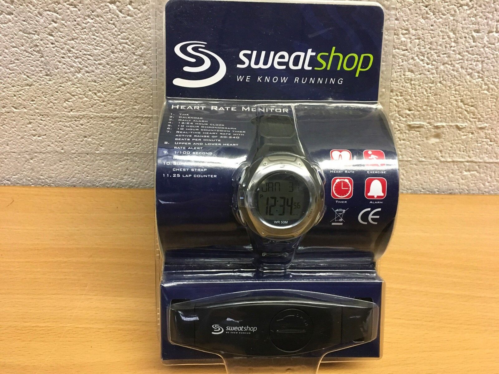 SWEATSHOP HEART RATE MONITOR WATCH RUNNING NEW