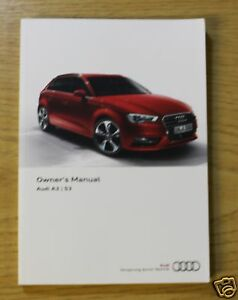 audi a3 s3 saloon sportback handbook owners manual 2012 2016 main rh ebay com 2014 Audi A3 Saloon 2013 Audi A3 Saloon