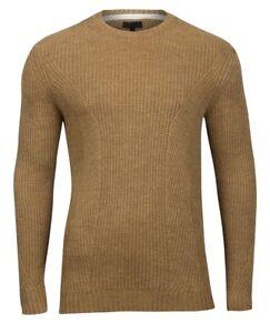 New RIVER ISLAND Mens knitted camel Wool Blend pullover jumper size - XXS - XX