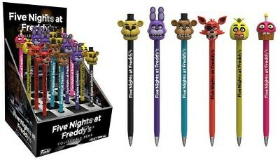 CHOICE OF 6 FUNKO POP COLLECTIBLE PEN WITH TOPPERS FIVE NIGHTS AT FREDDY NEW
