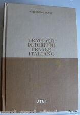 VINCENZO MANZINI TRATTATO DI DIRITTO PENALE ITALIANO VOLUME 6 UTET