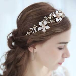 Gold-Flower-Headband-Bridal-Hairbands-Headpiece-Headdress-Wedding-Hair-Jewelry-c