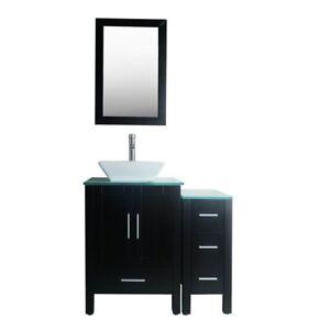 Image Is Loading 36 034 Black Bathroom Vanity Cabinet Sink Combo