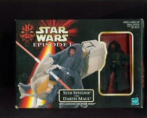 Star-Wars-Episode-1-SITH-SPEEDER-AND-DARTH-MAUL-BOX-SHOWS-WEAR-B-127