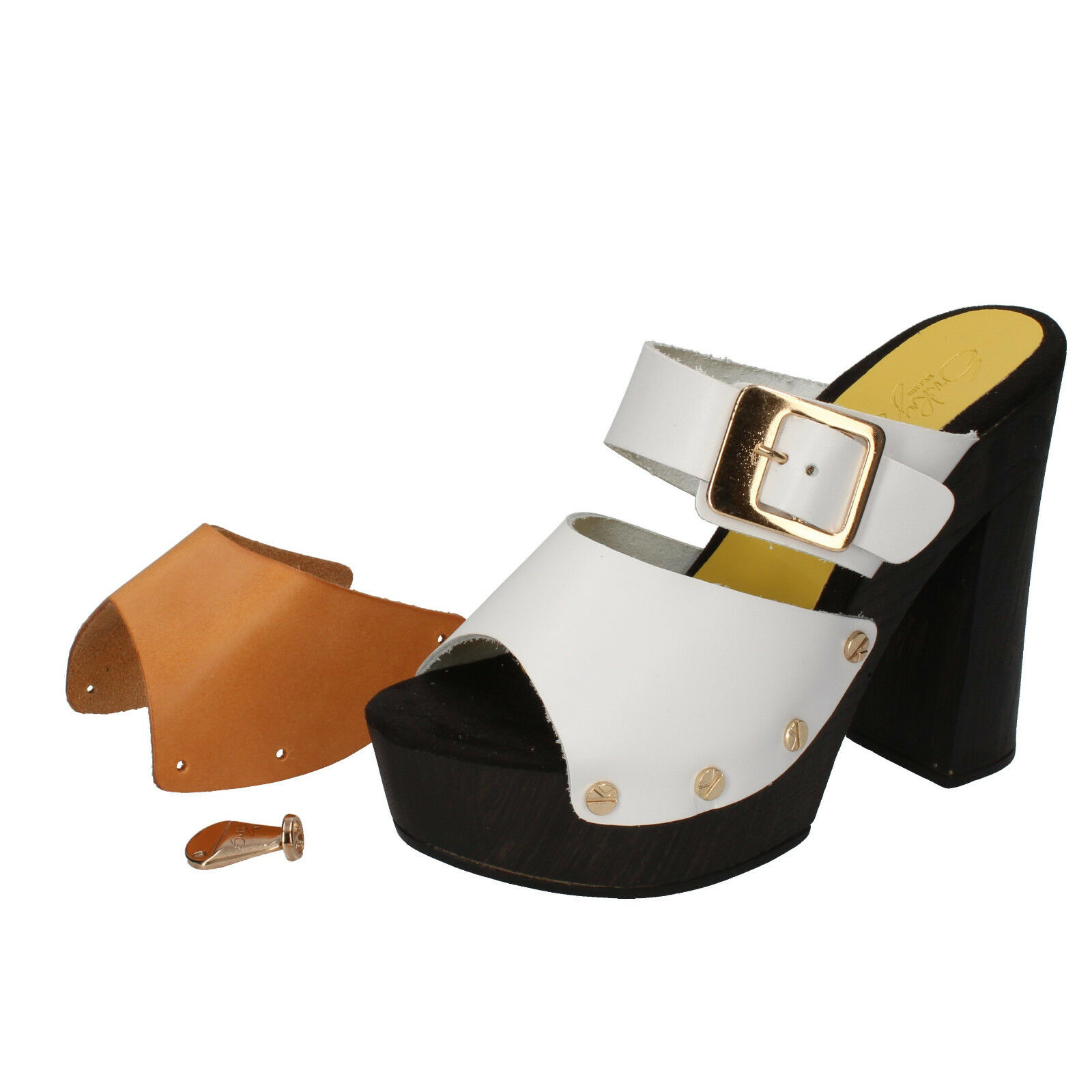 Women's shoes Suky Brand 38 Sandals White (Leather) Leather ac768-c