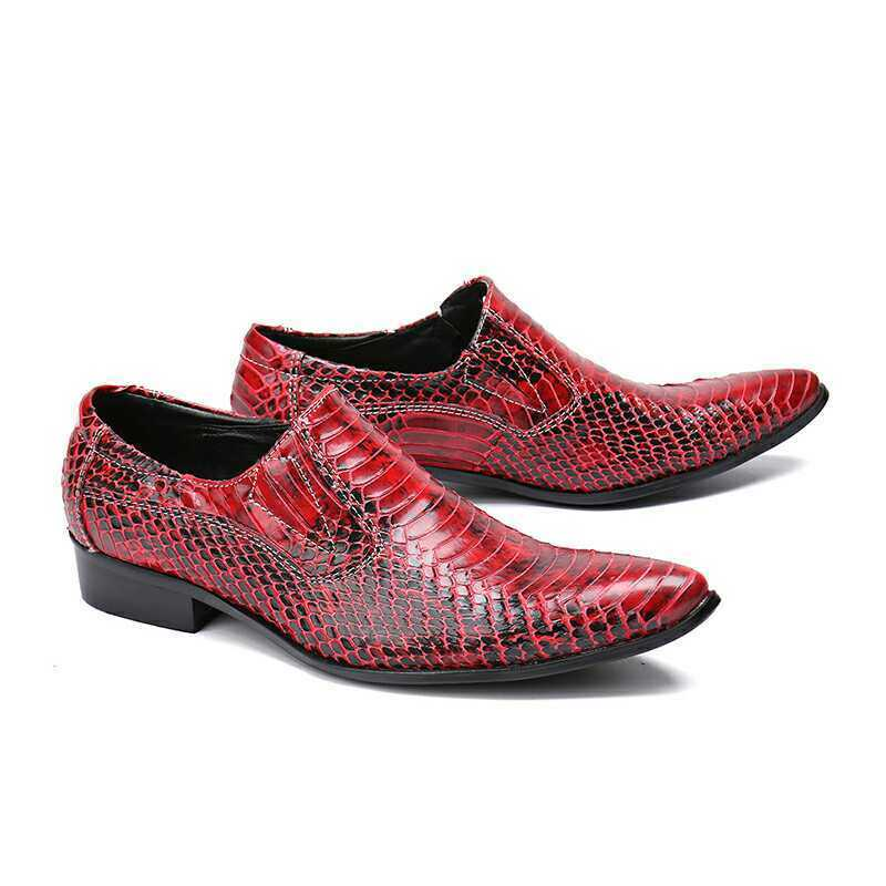 Uomo Trendy British Pointy Toe  Pelle Shoes Party Nightclub Nightclub Nightclub Snakeskin Loafers ce70d8