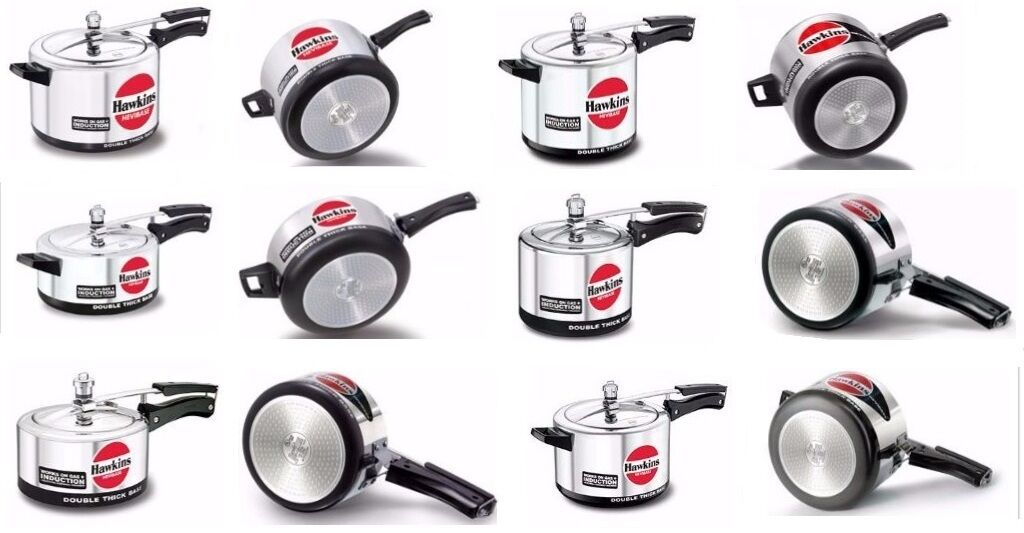 Pressure Cookers  Hawkins  Hevibase  Choose From 6  Indian Cooker